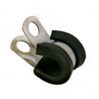 Clamp 5mm SS for tube - BLACK