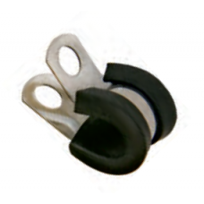 "Clamp 1/2"" SS for tube - BLACK"
