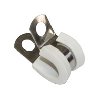 Clamp 5mm SS for tube - WHITE