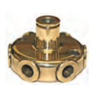 """Tube connector 1 to 6 for 3/8"""" pipe"""