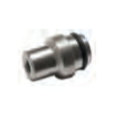 """SS - end plug with 10/24"""" hole for 10mm"""